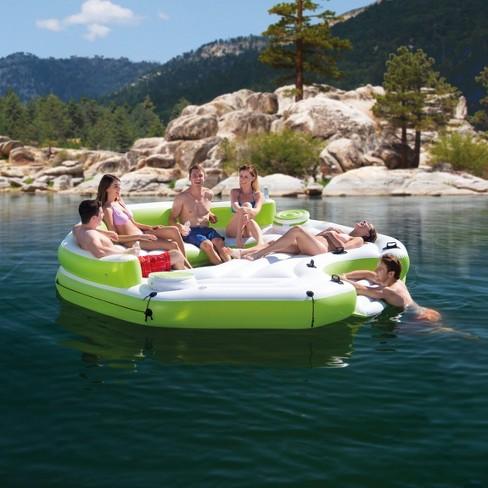 Intex Inflatable Key Largo Island Float With Coolers & Intex Oasis Island  Raft