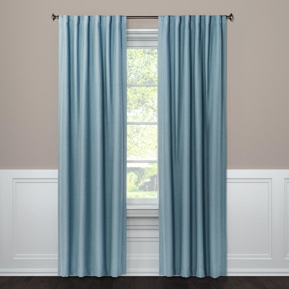 "Image of ""108"""" Blackout Curtain Panel Aruba Blue - Threshold"""