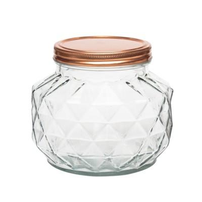 Amici Home Dakota Glass Canister, Small, 56oz