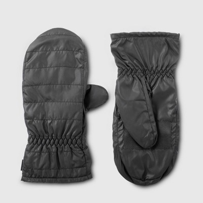 Isotoner Women's Insulated Recycled Mitten with Touchscreen Technology - Black One Size
