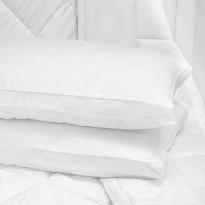 SensorPEDIC Low Profile Hypoallergenic Flat Fiber Filled Bed Pillow 2 Pack