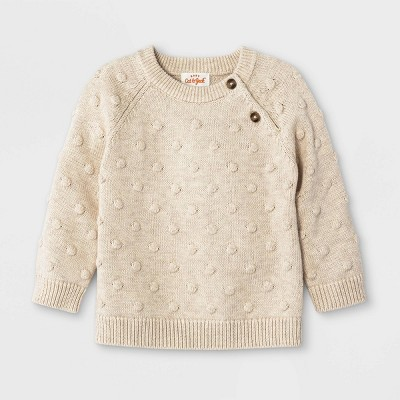 Baby Bobble Pullover Sweater - Cat & Jack™ Heather Gray