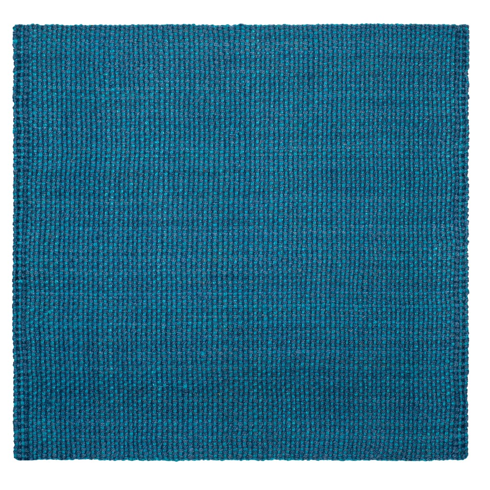 Blue Basket Weave Woven Square Area Rug 6'X6' - Safavieh