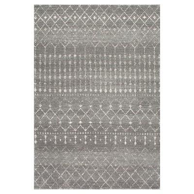 nuLOOM 4'X6' Abstract Loomed Area Rug Dark Gray