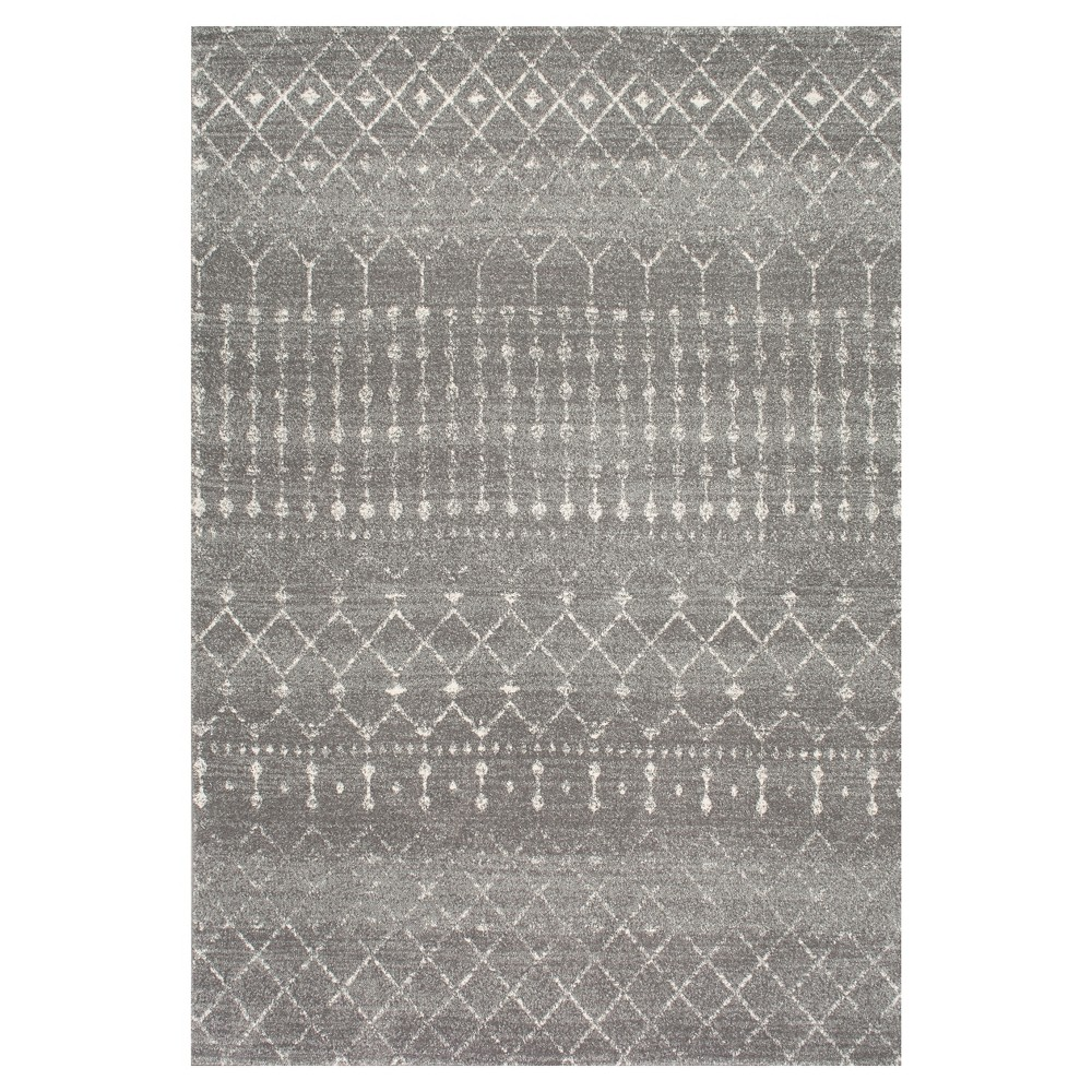 nuLOOM 4'X6' Abstract Loomed Area Rug Dark Gray, Dark Grey
