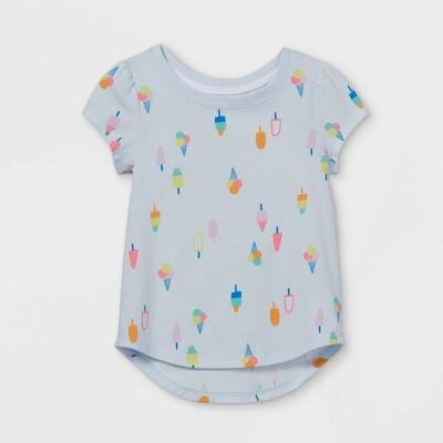 Toddler Girls' Popsicle Short Sleeve T-Shirt - Cat & Jack™ Light Blue