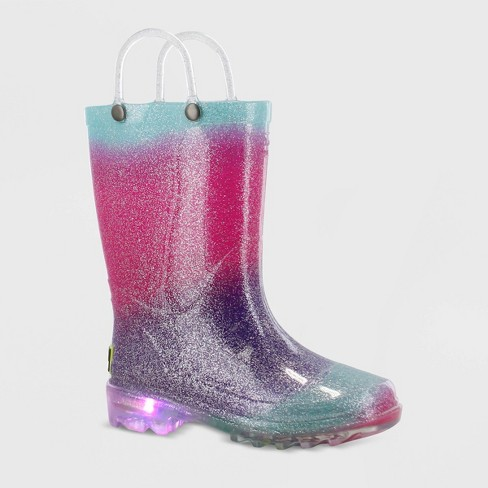Toddler Girls' Western Chief Ansley Light-Up Rain Boots - Pink - image 1 of 4