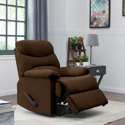Wall Hugger Microfiber Pillow Top Arm Recliner Chair -  ProLounger - image 1 of 4