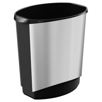 KIS - No-Lid Trash Can - Silver