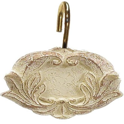 "Carnation Home ""Victorian"" Resin Shower Curtain Hooks"