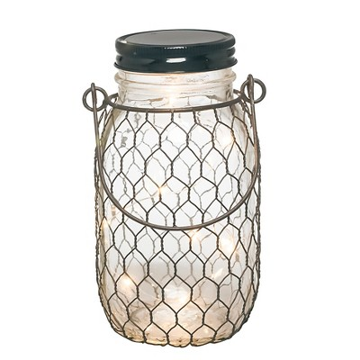The Gerson Companies 6.9 H Battery Operated LED Lighted Mason Jar With Black Wire