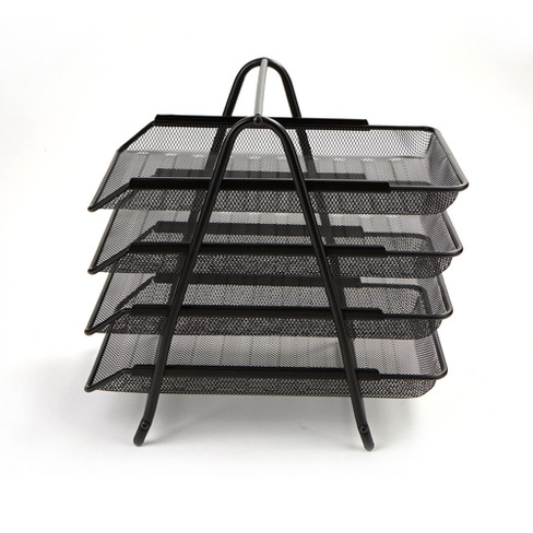 4 Tier Mesh Document Tray Black - Mind Reader - image 1 of 4