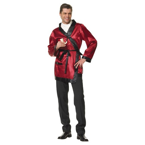 Men's Bachelor Smoking Jacket Red One Size - image 1 of 1
