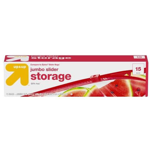 Jumbo (2.5gal ) Slider Storage Bag - 15ct - Up&Up™ - image 1 of 1