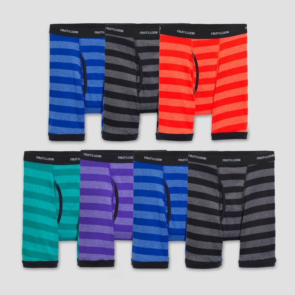 Image of Boys' Fruit of the Loom 7pk Mid Rise Boxer Briefs - Colors May Vary M, Boy's, Size: Medium, MultiColored