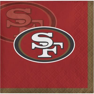 48ct San Francisco 49ers Football Beverage Napkins