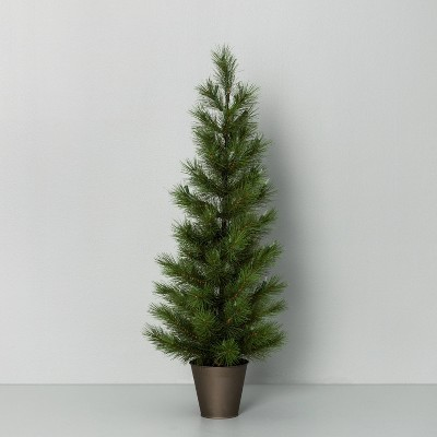 """40"""" Pre-Lit LED Artificial Potted Christmas Tree with Mini Bulbs - Hearth & Hand™ with Magnolia"""