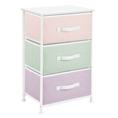 mDesign Vertical Dresser Storage Tower with 3 Drawers