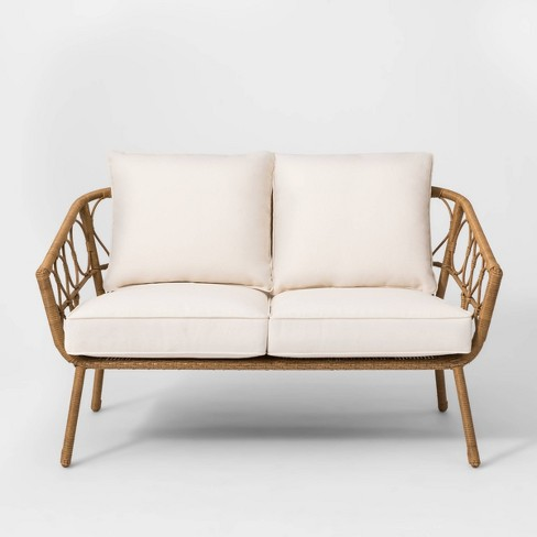 Awe Inspiring Britanna Patio Loveseat Natural Opalhouse Alphanode Cool Chair Designs And Ideas Alphanodeonline