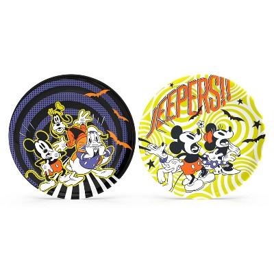 2pk Disney Mickey Halloween Melamine Plate Set