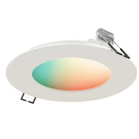 "DALS Lighting SWP4-RGBW Smart WiFi 4"" LED RGB Recessed Fixture - WiFi & Smart Home Compatible - image 1 of 1"