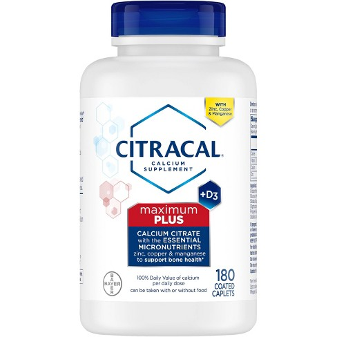 Citracal Calcium Citrate Dietary Supplement Tablets - 180ct - image 1 of 4
