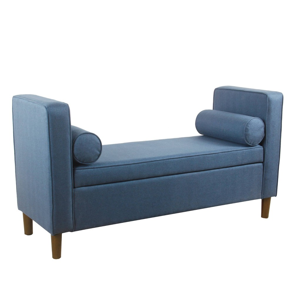 Rimo Upholstered Storage Bench Navy - HomePop was $249.99 now $187.49 (25.0% off)