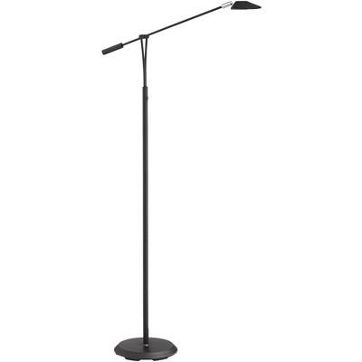 360 Lighting Modern Pharmacy Floor Lamp LED Dimmable Black Adjustable Arm for Living Room Reading Bedroom Office