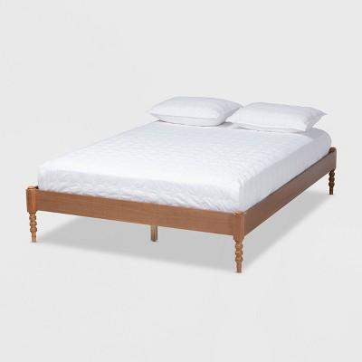 Cielle French Bohemian Wood Platform Bed Frame - Baxton Studio