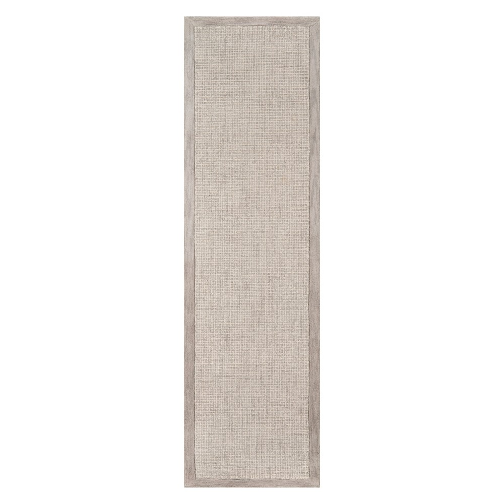 2'3X8' Solid Tufted Runner Silver - Momeni