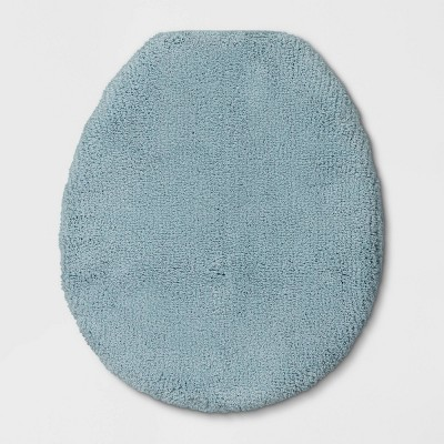 "18""x21"" Elongated Toilet Lid Cover Aqua - Threshold Signature™"