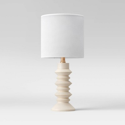 Textured Wood Ribbed Accent Lamp White (Includes Energy Efficient Light Bulb)- Project 62™