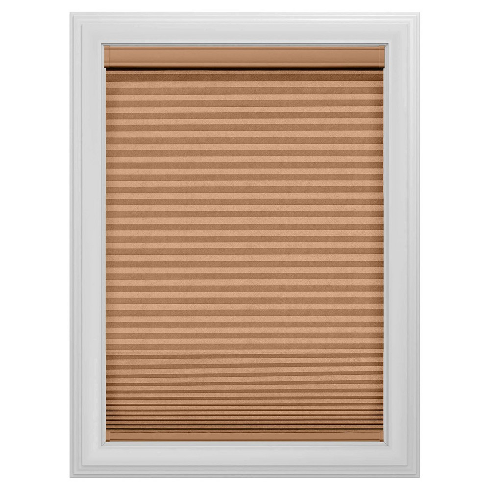 Cordless Blackout Cellular Shade Slotted Window Blind Cocoa (Brown) 59x48 - Bali Essentials