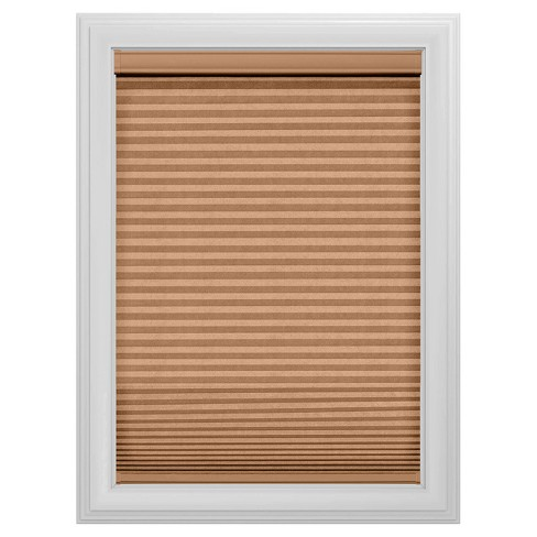 Cordless Blackout Cellular Shade Slotted Window Blind Cocoa 29x36
