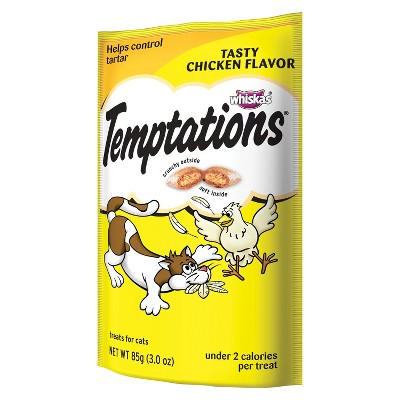 TEMPTATIONS Classic Treats for Cats Tasty Chicken Flavor 3 ozs