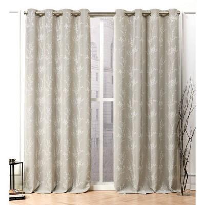 Turion Grommet Top Curtain Panel Pair - Nicole Miller