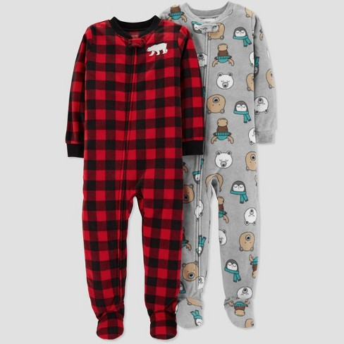 523c4d725 Baby Boys' Fleece Buffalo Check One Piece Pajama - Just One You® made by  carter's Red