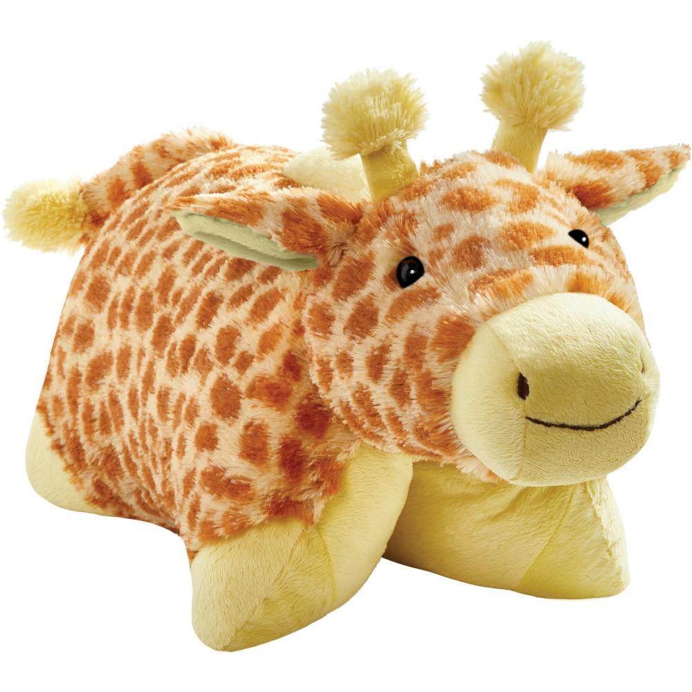 Image of 18 Signature Jolly Giraffe Throw Pillow Yellow - Pillow Pets