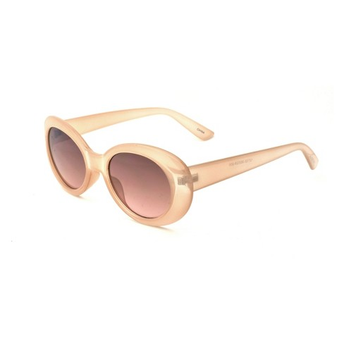 Women's Round Sunglasses - A New Day™ Pink - image 1 of 2