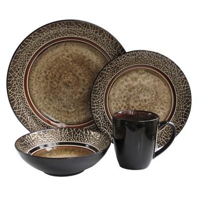 American Atelier Markham 16pc Dinnerware Set Brown