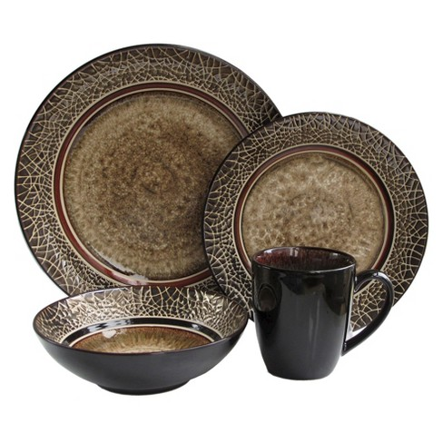 American Atelier Markham 16pc Dinnerware Set Brown - image 1 of 1
