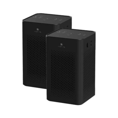 Medify Air MA-25-B2 Medical Grade Table Top Portable Air Cleaner Purifier w/ True HEPA Filter, 3 Speeds, and 500 Square Feet Coverage, Black (2 Pack)