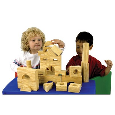 Edushape Foam Building Blocks - Wood Pattern