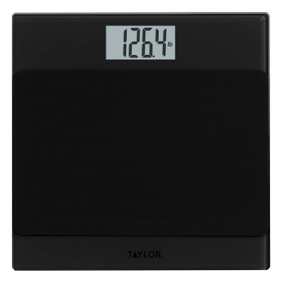 Glass Digital Scale with Anti-Slip Mat Gray/Black - Taylor