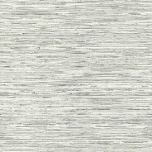 Roommates Grasscloth Peel Stick Wallpaper Gray Target
