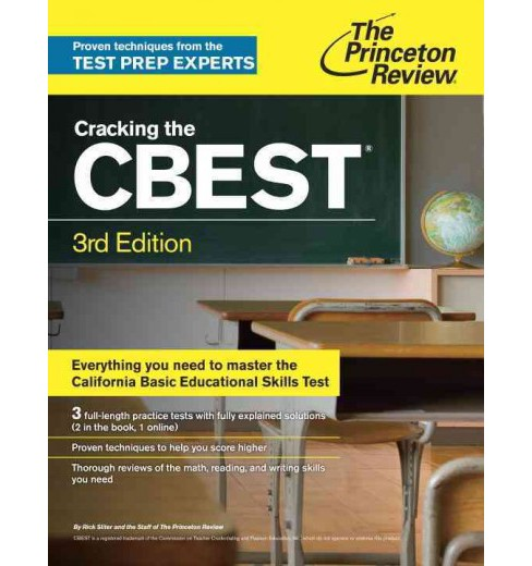 Princeton Review Cracking the CBEST (Paperback) (Rick Sliter) - image 1 of 1