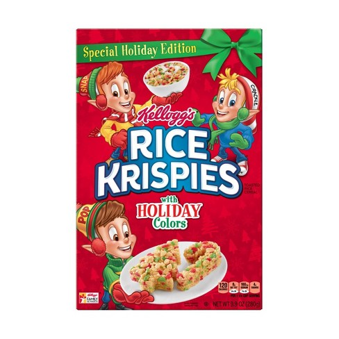 Rice Krispies Holiday Colors Breakfast Cereal - 9.9oz - image 1 of 4