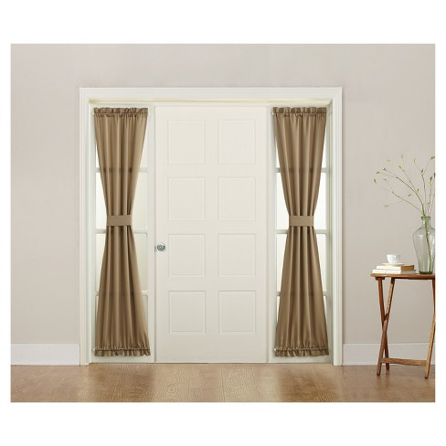 Seymour Energy Efficient Front Door Sidelight Curtain Panel Taupe 26
