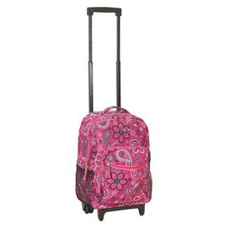"Rockland 17"" Roadster Rolling Backpack - Pink"