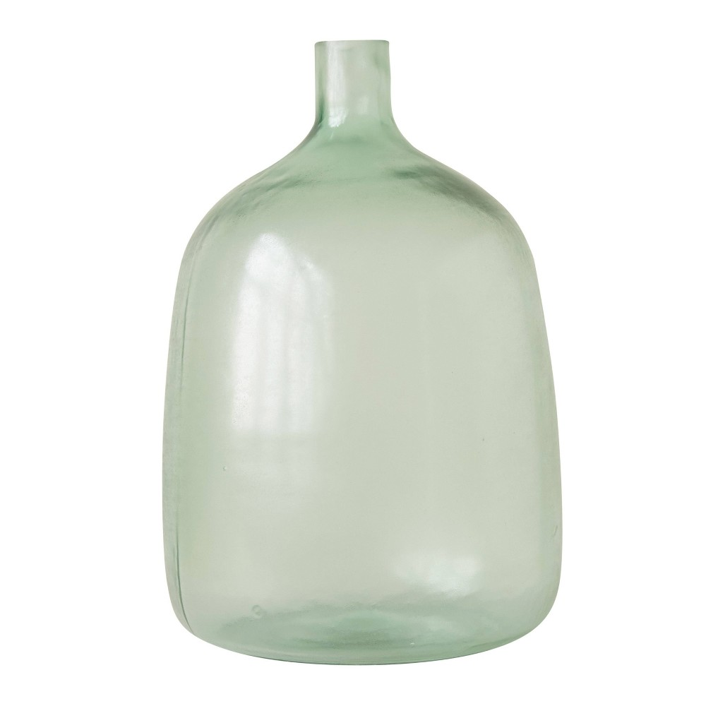 "Image of ""14.5"""" x 9"""" Decorative Sea Glass Bottle Clear - 3R Studios, Green"""